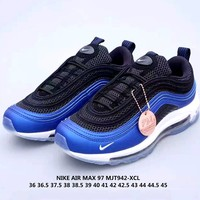 Free Shipping-Nike Air Max 97 QS GAME ROYAL Bull Running Shoes