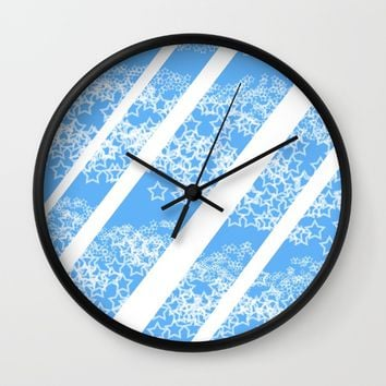 Flowing Stars #1 Wall Clock by PICTO