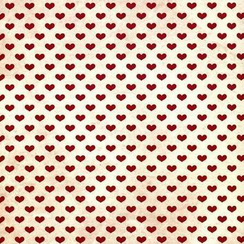 IVORY RED HEARTS BACKDROP Platinum Cloth 10x10 Backdrop - LCPC9704 - LAST CALL