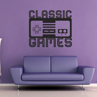 Classic Games - Vintage Arcade SIgn Wall Decal