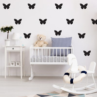 Butterflies Wall Decals, Wall Stickers, Butterflies Wall Stickers, Butterflies Pattern,Vinyl Decal, Nursery Decal, Pattern Wall, Girl Decals