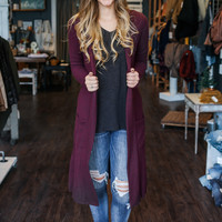 Winter Wonderland Cardigan - Merlot
