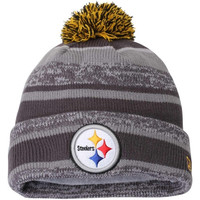 Pittsburgh Steelers New Era Team Sport Knit Cuffed Hat – Gray