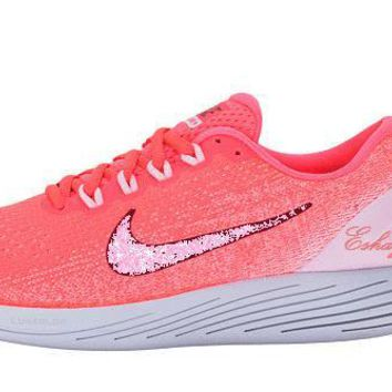 Arctic Pink Nike LunarGlide 9 Glitter Running Shoes