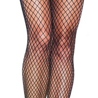 FISHNETS WITH VELVET CAGE STRAP LACE PANTY