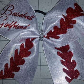 Baseball Girlfriend cheer bow