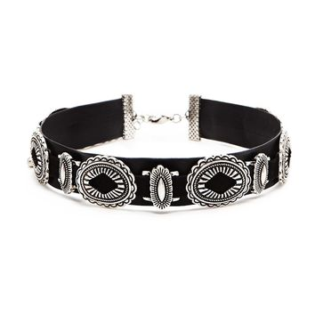 Faux Leather Ornate Choker