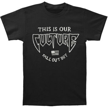 Fall Out Boy Men's  Culture T-shirt Black Rockabilia