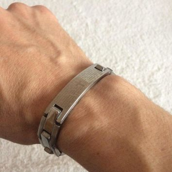 """Lord's Prayer"" Link Men's Bracelet"