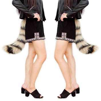 Fashion Novetly Realistic Faux Fur Fox Tail Adjustable Sexy Fluffy Fake Plush Tails Halloween Party Cosplay Costume H9 Macchar Cosplay Catalogue