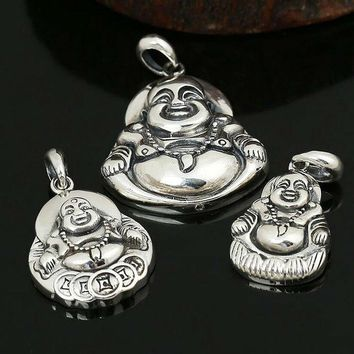 2017 Pendant 100% Real 925 Sterling Silver Buddha Necklace Pendant