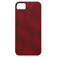 Ruby Red and Black Pattern iPhone 5 Case