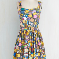 Kawaii Mid-length Tank top (2 thick straps) Fit & Flare D'oh Happy Day Dress by ModCloth