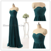 Green prom dress, Green Long Prom Dress, Green evening dress, Sweetheart party dress, Green formal dress, prom dress, dark green prom gown