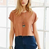 Urban Renewal Recycled High/Low Raw-Edge Top-