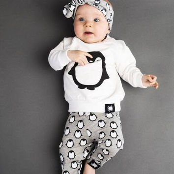 2016 Autumn New Fashion baby boy baby clothes suit long-sleeved T-shirt + trousers 2/pcs newborn baby girl's clothing set SY144