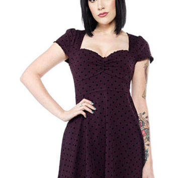 Polka Dot Pin Up Dress in Purple