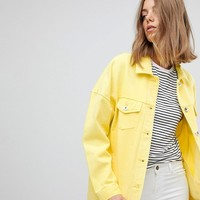 Vero Moda Coloured Denim Jacket at asos.com
