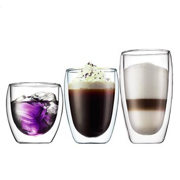 1 Piece Heat-resistant Double Wall Glass Cup