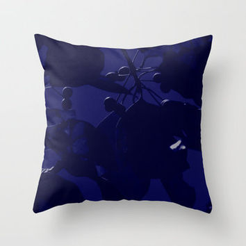 Fall Blue Throw Pillow by Stacy Frett