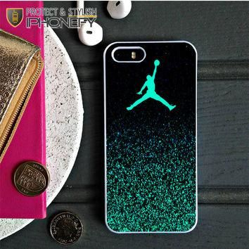 Nike Air Jordan Jump Mint Glitter iPhone 5C Case|iPhonefy