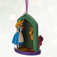 Disney Store Alice in Wonderland 2016 Sketchbook Christmas Ornament New w Tags