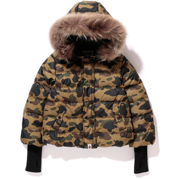 1ST CAMO FUR HOOD DOWN JACKET /AP