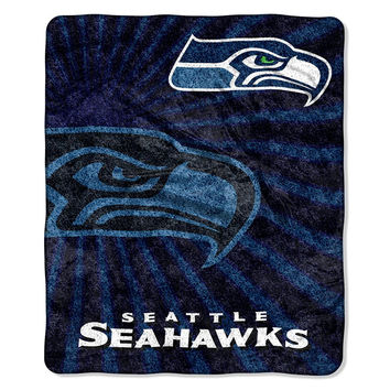 Seattle Seahawks NFL Sherpa Throw (Strobe Series) (50in x 60in)
