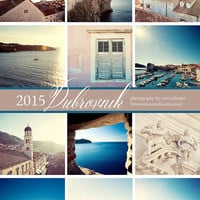 2015 calendar - 2015 dubrovnik croatia art calendar,  5x7 looseleaf photography planner - travel, europe, mediterannean , desk calendar