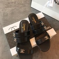 Chanel Fashion Black Mule Sandal
