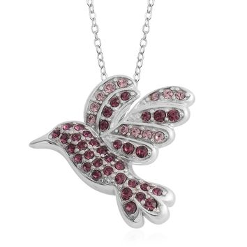 Amethyst Sterling Silver Dove Pendant with Chain