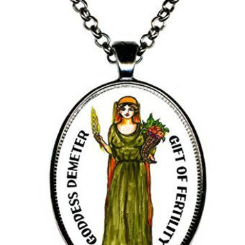 Goddess Demeter Gift of Fertility Huge Pendant