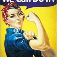 Rosie the RIveter War Effort Propaganda Art Poster 24x36