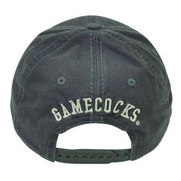 South Carolina Gamecocks Gray Distressed Snapback Cap Adjustable Logo Hat