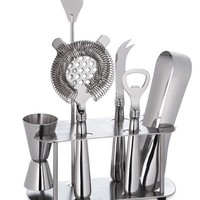 Stainless-Steel Bar Tools Set with Stand | Williams-Sonoma