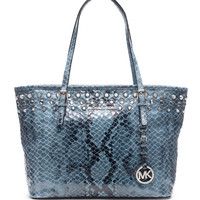 Handbags | Totes | Jet Set Embellished Embossed Leather Small Travel Tote Bag | Lord and Taylor