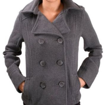 Amazon.com: Aeropostale Women's Juniors Wool Peacoat Coat Jacket: Clothing