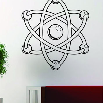 Science Atom V2 School Class Design Decal Sticker Wall Vinyl Art Home Room Decor