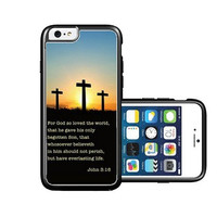 RCGrafix Brand Bible Quote John 3 16 iPhone 6 Case - Fits NEW Apple iPhone 6