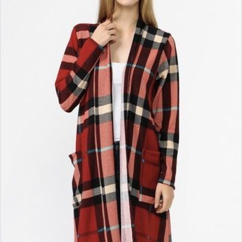 Now N Forever Plaid Cardigan