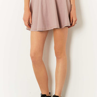 Pink Denim Look Skater Skirt - Skirts - Clothing - Topshop USA