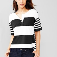 Mix Stripe Henley