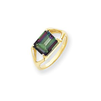 14k Yellow Gold Mystic Topaz Ring