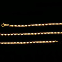 14K Yellow Gold ION Plated Stainless Steel Box Chain - 20 inches