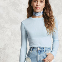 Textured Stripe Knit Top