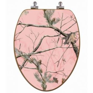 Realtree Pink Camo Oak Toilet Seat Cover | Most Popular Toilet Seat Cover
