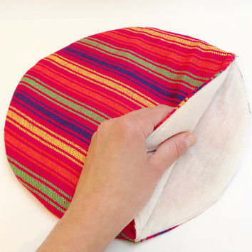 Tortilla Warmer - Tortillero - Tortilla Keeper -  Bread Keeper - Mexican Fabric - Red