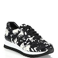 Tory Burch - Floral-Print Platform Leather & Canvas Sneakers - Saks Fifth Avenue Mobile