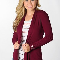 Virginia Tech Hokies Maroon Cardigan