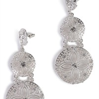 Dangling Earring with 3 Row Circle Design